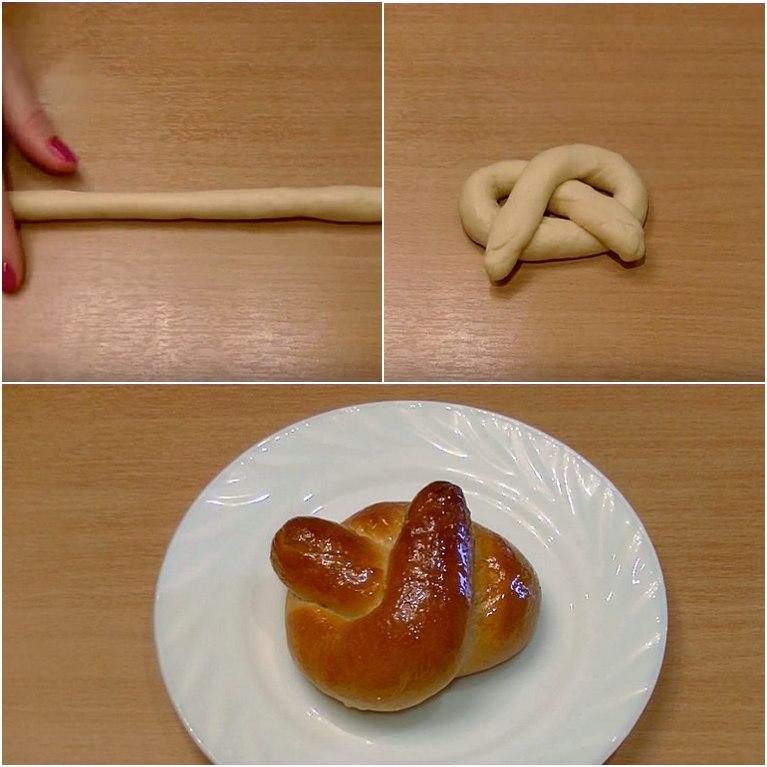 красивая разделка теста для выпечки булочек